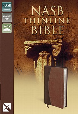 NASB, Thinline Bible, Imitation Leather, Brown, Red Letter Edition, Zondervan