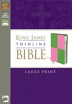 "Image for ""''King James Thinline Bible (KJV, Large Print, Meadow GreenPink Italian Duo-Tone, Gilded-Silver Page''"""