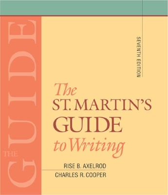 Image for The St. Martin's Guide to Writing