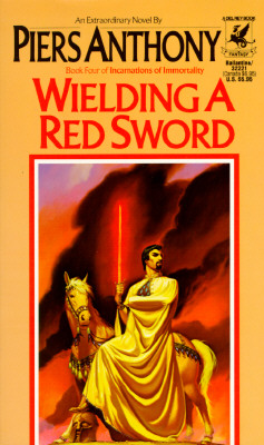 Image for Wielding a Red Sword (Book Four of Incarnations of Immortality)