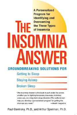 Image for INSOMNIA ANSWER