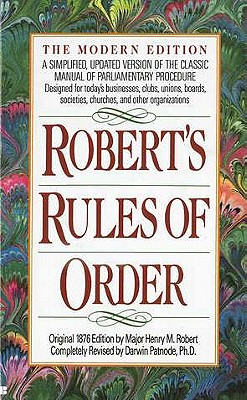 Image for ROBERT'S RULES OF ORDER