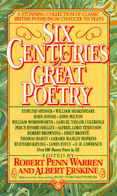Image for Six Centuries of Great Poetry