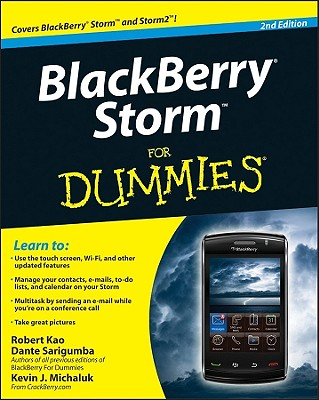 BlackBerry Storm For Dummies, Kao, Robert; Sarigumba, Dante; Michaluk, Kevin J.