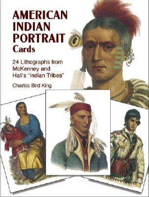 Image for American Indian Portrait Cards: 24 Lithographs from McKenney and Hall's 'Indian Tribes' (Dover Postcards)