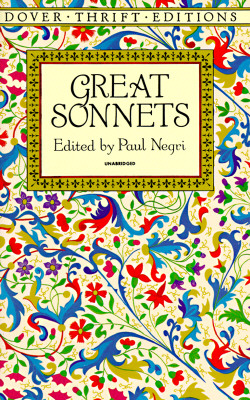 """Great Sonnets (Dover Thrift Editions), """"NEGRI, PAUL"""""""