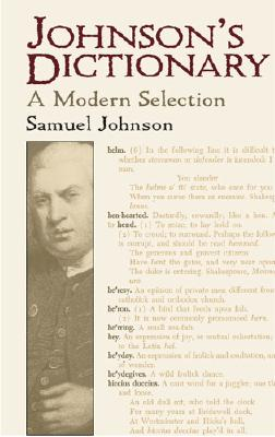 Image for Johnson's Dictionary: A Modern Selection (Dover Books on Literature & Drama)