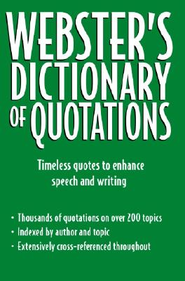 Image for Webster's Dictionary of Quotations