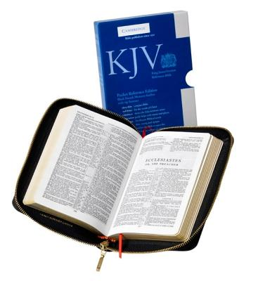 Image for KJV Pocket Reference Edition Black French Morocco with zipper KJ243:XRZ