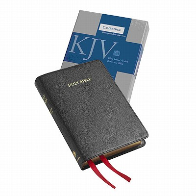 KJV Cameo Reference Edition KJ456:XRE Black Goatskin Leather