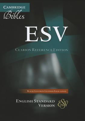 Image for ESV Clarion Reference Black Goatskin ES486:XE