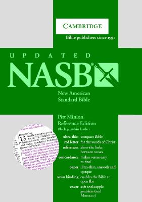 Image for NASB Pitt Minion Reference Bible, Black Goatskin Leather, Red Letter Text NS446:XR