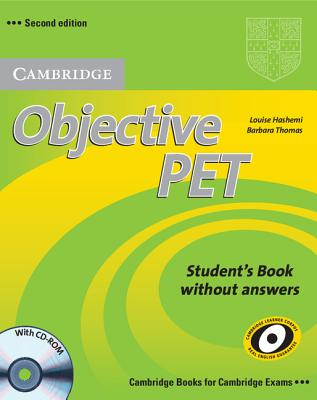Image for Objective PET Student's Book without Answers with CD-ROM