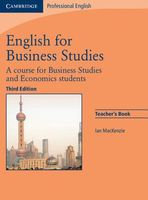 Image for English for Business Studies Teacher's Book  A Course for Business Studies and Economics Students.  A Course for Business Studies and Economics Students