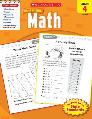 Scholastic Success with Math, Grade 4 (Scholastic Success with Workbooks: Math), Scholastic