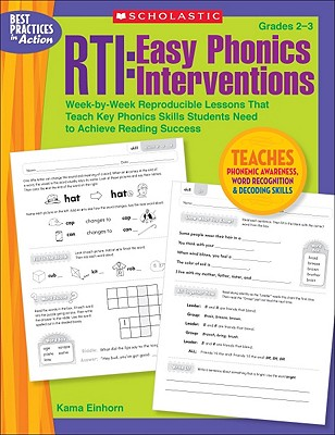 Image for RTI: Easy Phonics Interventions: Week-by-Week Reproducible Lessons That Teach Key Phonics Skills Students Need to Achieve Reading Success