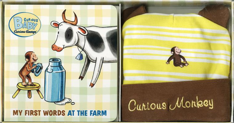 """Curious Baby My First Words at the Farm Gift Set (Curious George Book & Hat) (Curious Baby Curious George), """"Rey, H.A."""""""