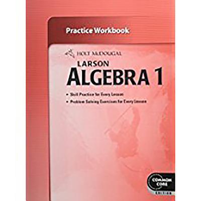 Image for Holt McDougal Larson Algebra 1: Practice Workbook