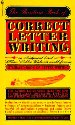 Image for Bantam Book of Correct Letter Writing