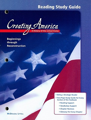 Image for Creating America, Grades 6-8 Beginnings Through Reconstruction Reading Study Guide: Creating America