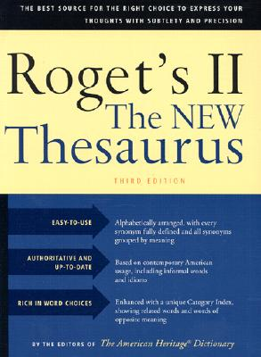 Image for Roget's II the New Thesaurus, Third Edition