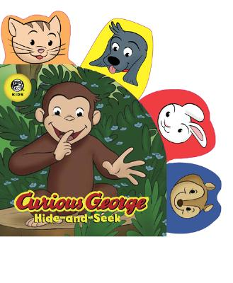 """Curious George Hide-and-Seek PBS Shaped Animal Tab Novelty Board Book, """"Rey, H.A. and Margret"""""""