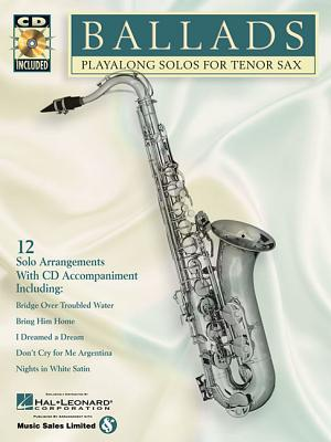 Image for Ballads: Play-Along Solos for Tenor Sax (Instrumental Folio)