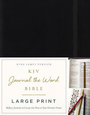 Image for KJV, Journal the Word Bible, Large Print, Hardcover, Black, Red Letter Edition: Reflect, Journal, or Create Art Next to Your Favorite Verses