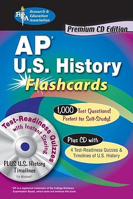 AP U.S. History Premium Edition Flashcard Book with CD (REA) (Test Preps), Kwynn Olson