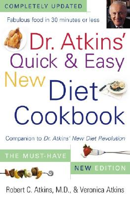 Image for Dr. Atkins' Quick & Easy New Diet Cookbook: Companion to Dr. Atkins' New Diet Revolution