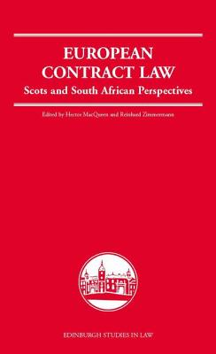 Image for European Contract Law: Scots and South African Perspectives (Edinburgh Studies in Law)