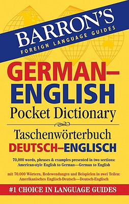 Image for Barron's German-English Pocket Bilingual Dictionary (Barron's Pocket Bilingual Dictionaries)