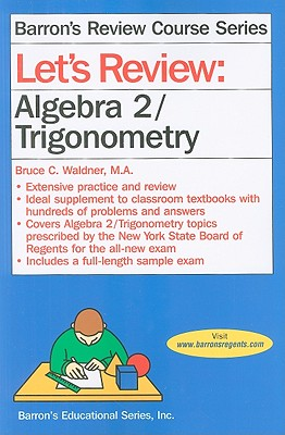 Image for Let's Review Algebra 2/Trigonometry (Let's Review Series)