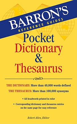 Image for Barron's Pocket Dictionary & Thesaurus