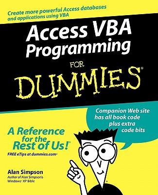 Access VBA Programming For Dummies, Simpson, Alan