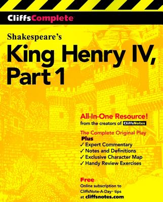 """CliffsComplete King Henry IV, Part 1 (Pt.1)"", ""Shakespeare, William"""