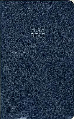 Holy Bible New King James Version Slimeline Edition: Blue Bonded Leather, Gilded-Silver Page Edges, Thumb Indexed, Thomas Nelson (Author)
