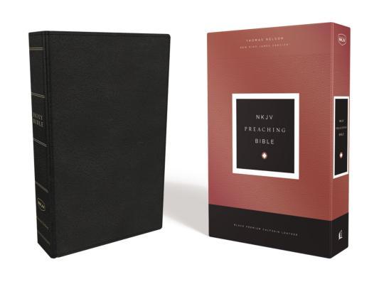 Image for NKJV, Preaching Bible, Premium Calfskin Leather, Black, Comfort Print