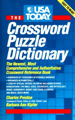 Image for USA Today Crossword Puzzle Dictionary: The Newest Most Authoritative Reference Book