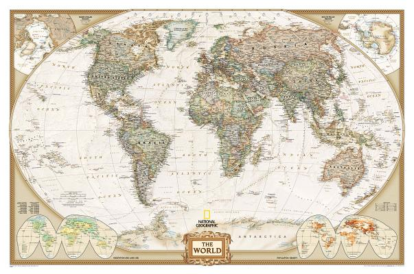 Image for National Geographic: World Executive Wall Map - Laminated (46 x 30.5 inches) (National Geographic Reference Map)