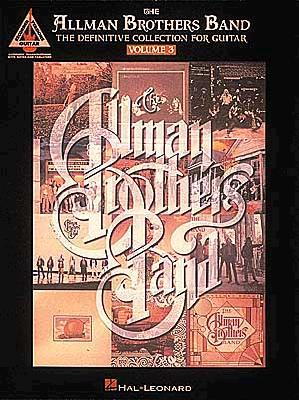 Image for The Allman Brothers Band: The Definitive Collection for Guitar, Vol. 3