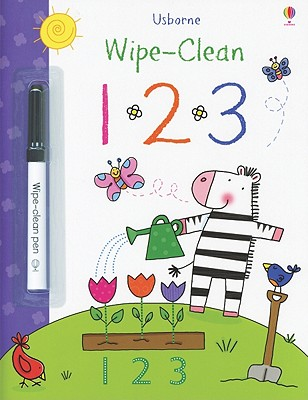 123 [With Marker] (Usborne Wipe-Clean)