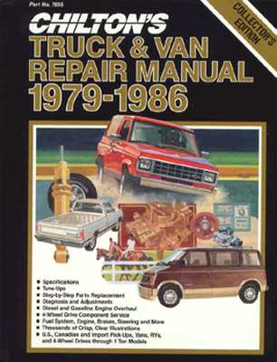 Image for Chilton's Truck and Van Repair Manual 1979-86