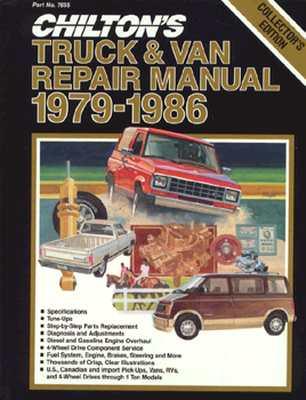 Image for Chilton's Truck and Van Repair Manual 1979-86