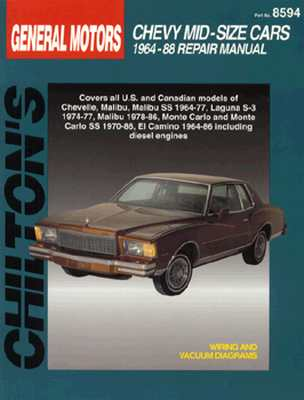 Image for GM Chevrolet Mid-Size Cars, 1964-88 (Chilton Total Car Care Series Manuals)