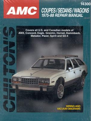 Image for AMC Coupes, Sedans, and Wagons, 1975-88 (Chilton's Total Car Care Repair Manuals)