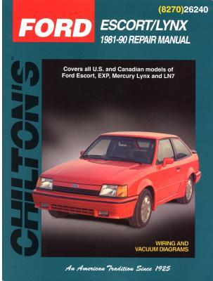 Image for Ford Escort and Lynx, 1981-90 (Chilton's Total Car Care Repair Manuals)