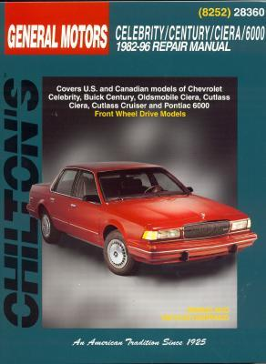 Image for GM Celebrity, Century, Ciera, and 6000, 1982-96 (Chilton Total Car Care Series Manuals)