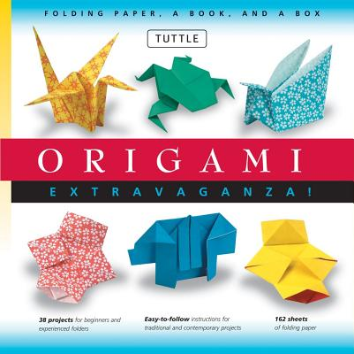 Image for Origami Extravaganza! Folding Paper, a Book, and a Box: Origami Kit Includes Origami Book, 38 Fun Projects and 162 High-Quality Origami Papers: Great for Both Kids and Adults