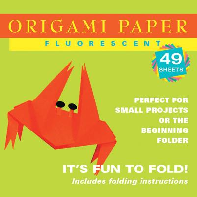 "Origami Paper - Fluorescent Colors - 6 3/4"" - 48 Sheets: Tuttle Origami Paper: High-Quality Origami Sheets Printed with 6 Different Colors: Instructions for 6 Projects Included (Origami Paper Packs)"